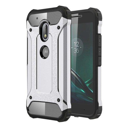 For Moto G4 Play Grey Tough Armor TPU + PC Combination Case