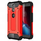 For Moto G/G Plus (4rd gen) Red Tough Armor TPU + PC Combination Case