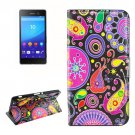 For Sony Xperia C6 Acaleph Pattern Leather Case with Holder, Card Slots & Wallet