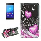 For Sony Xperia C6 Butterflies Pattern Leather Case with Holder, Card Slots & Wallet