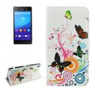 For Sony Xperia C6 Butterfly Pattern Leather Case with Holder, Card Slots & Wallet