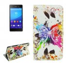 For Sony Xperia C6 Crystal Pattern Leather Case with Holder, Card Slots & Wallet