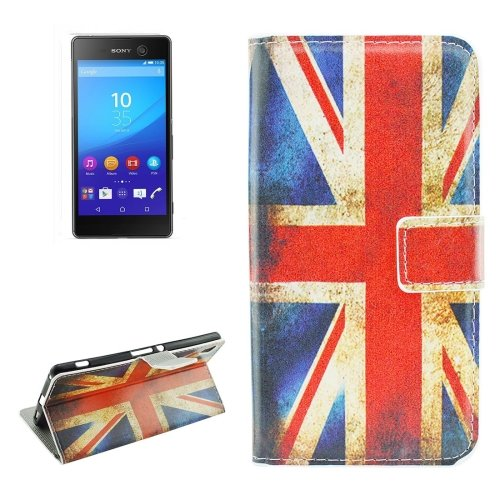 For Sony Xperia C6 UK Flag Pattern Leather Case with Holder, Card Slots & Wallet