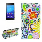 For Sony Xperia C6 Fireworks Pattern Leather Case with Holder, Card Slots & Wallet
