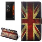 For Xperia XZ UK Flag Pattern Leather Case with Holder, Card Slots & Wallet