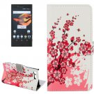 For Xperia X Compact Blossom Leather Case with Holder, Card Slots & Wallet