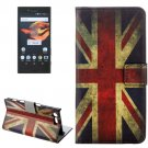 For Xperia X Compact UK Flag Leather Case with Holder, Card Slots & Wallet