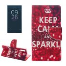 For Xperia XZ Sparkle Leather Case with Holder, Card Slots & Wallet