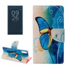 For Xperia XZ Butterfly Leather Case with Holder, Card Slots & Wallet