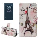 For Xperia XZ Eiffel Leather Case with Holder, Card Slots & Wallet