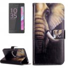 For Xperia X Performance Elephant Leather Case with Holder, Card Slots & Wallet