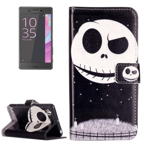 For Xperia X Performance Ghost Leather Case with Holder, Card Slots & Wallet