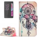 For Xperia XA Dream Catcher Pattern Leather Case with Holder & Card Slots