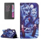 For Xperia XA Wolves Pattern Leather Case with Holder & Card Slots