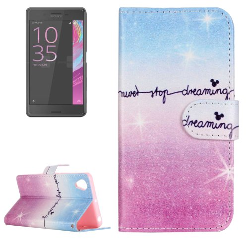 For Xperia XA Dream Sky Pattern Leather Case with Holder & Card Slots