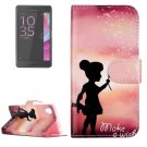 For Xperia XA Wishing Pattern Leather Case with Holder & Card Slots