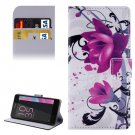 For Xperia E5 Lotus Pattern Leather Case with Holder, Card Slots & Wallet