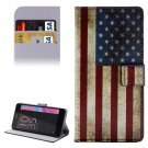 For Xperia E5 US Flag Pattern Leather Case with Holder, Card Slots & Wallet