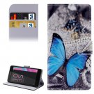 For Xperia E5 Butterfly Pattern Leather Case with Holder, Card Slots & Wallet