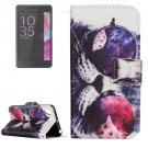 For Xperia X Performance Cat Pattern Leather Case with Holder, Card Slots