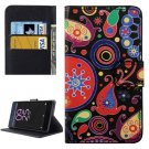For Xperia X Performance Acaleph Pattern Leather Case with Holder, Card Slots