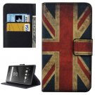 For Xperia XA UK Flag Pattern Leather Case with Holder, Card Slots & Wallet