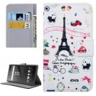For Xperia XA Tower Pattern Leather Case with Holder, Card Slots & Wallet