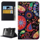 For Xperia X Acaleph Pattern Leather Case with Holder, Card Slots & Wallet