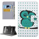 For Xperia X Owl Pattern Leather Case with Holder, Card Slots & Wallet
