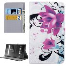 For Xperia X Lotus Pattern Leather Case with Holder, Card Slots & Wallet