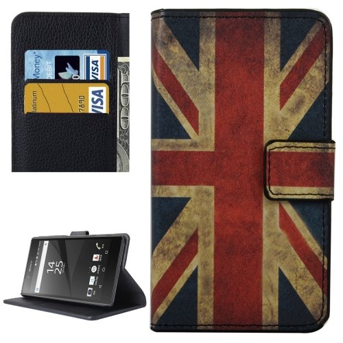 For Xperia X UK Flag Pattern Leather Case with Holder, Card Slots & Wallet