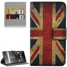 For Xperia Z5 UK Flag Pattern Leather Case with Holder, Card Slots & Wallet