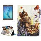 For Tab A 8.0 Cats Smart Cover Leather Case with Holder, Wallet & Card Slots