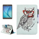For Tab A 8.0 Owl Smart Cover Leather Case with Holder, Wallet & Card Slots