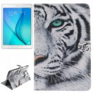 For Tab A 8.0 T350 Tiger Pattern Leather Case with Holder, Card Slots & Wallet