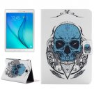 For Tab A 8.0 T350 Skull Pattern Horizontal Flip Leather Case with Holder