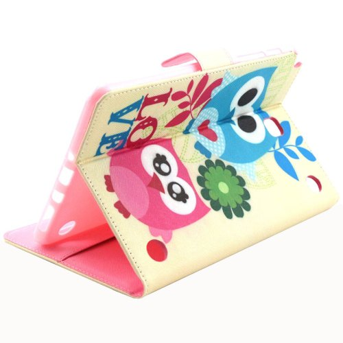 For Tab A 8.0 T350 Owl Flip Leather Case with Holder, Card Slots & Wallet