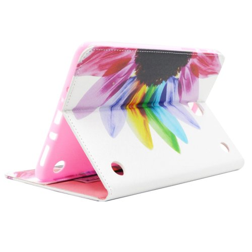 For Tab A 8.0 T350 Colorful Flip Leather Case with Holder, Card Slots & Wallet