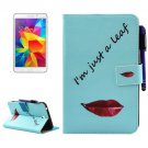 For Tab 4 7.0 Lips Smart Cover Leather Case with Holder, Wallet & Card Slots