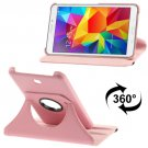 For Tab 4 7.0 Pink Litchi Texture Leather Case with 2-angle Rotating Holder