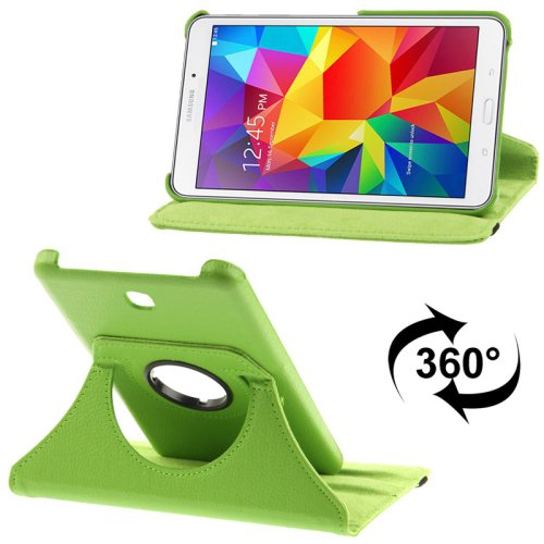 For Tab 4 7.0 Green Litchi Texture Leather Case with 2-angle Rotating Holder