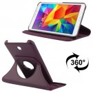 For Tab 4 7.0 Purple Litchi Texture Leather Case with 2-angle Rotating Holder