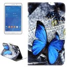 For Tab 4 7.0 Butterfly Flip Leather Case with Holder, Wallet & Card Slots