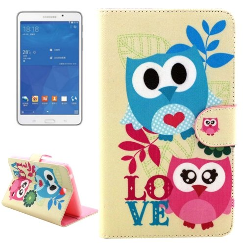 For Tab 4 7.0 Owls & Love Flip Leather Case with Holder, Wallet & Card Slots