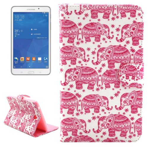 For Tab 4 7.0 Elephant Flip Leather Case with Holder, Wallet & Card Slots
