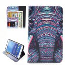 For Tab 4 7.0 Ethnic Elephant Flip Leather Case with Holder, Wallet & Card Slots