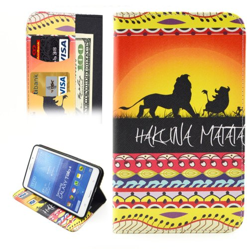 For Tab 4 7.0 HAKUNA Flip Leather Case with Holder, Wallet & Card Slots