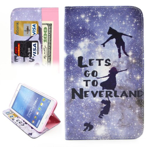 For Tab 4 7.0 Neverland Flip Leather Case with Holder, Wallet & Card Slots