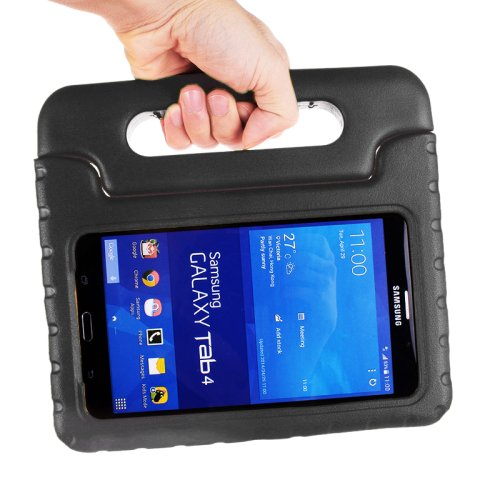 For Tab 4 7.0 Black EVA Rugged Foam Case with Handle and Holder