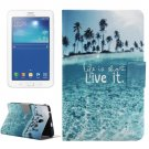 For Tab 3 Lite 7.0 Ocean Pattern Horizontal Flip Leather Case with Holder
